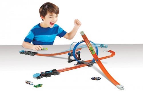 MATTEL HOT WHEELS TRACK BUILDER STARTER KIT TRASE AR AUTOMAŠĪNU