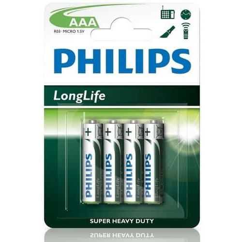 Baterija Philips AAA Longlife 4gb (104047, 1549435)
