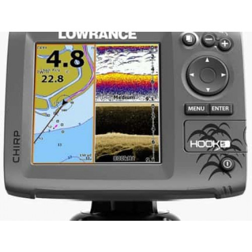 Eholote Lowrance Hook-5  Mid/High/DownScan™ (000-12656-001)