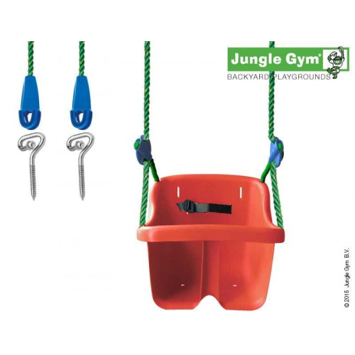 Mazuļu rotaļu šūpoles Jungle Gym Baby Swing Kit Red (250_025)