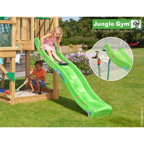 Rotaļu slidkalniņš laukumiņam Jungle Gym Wavy Star Slide Short Apple Green (324_300)