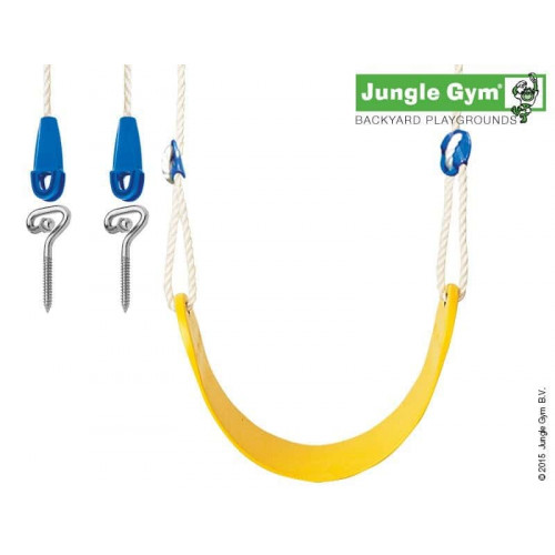 Rotaļu šūpoles laukumiņam Jungle Gym Sling Swing Kit Yellow (250_001)