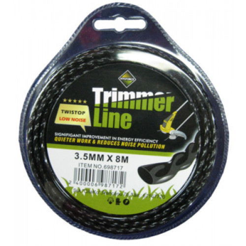Aukla trimmerim TWISTOP, D-3.5mm,L-8m TWISTOP-3.00mmx8m 698717