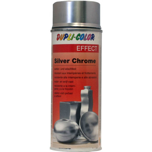 Aerosolkrāsa DC Silver Chrome 400ml +150C hromēts sudrabs New Brand (674778)