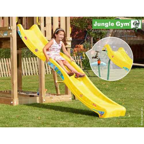 Rotaļu slidkalniņš laukumiņam Jungle Gym Wavy Star Slide Long Yellow (334_100)