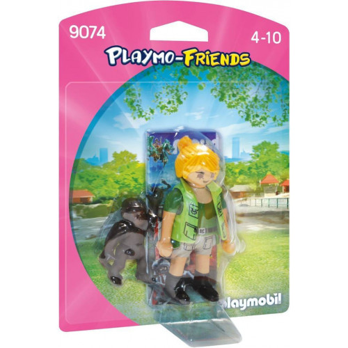 Playmobil 9074 Collectable Playmo-Friends Zookeeper with Baby Gorilla (T-MLX32151)