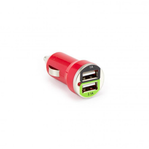 Sbox Car Charger CC-221R / 2 Ports - 2.1A strawberry red (T-MLX35546)