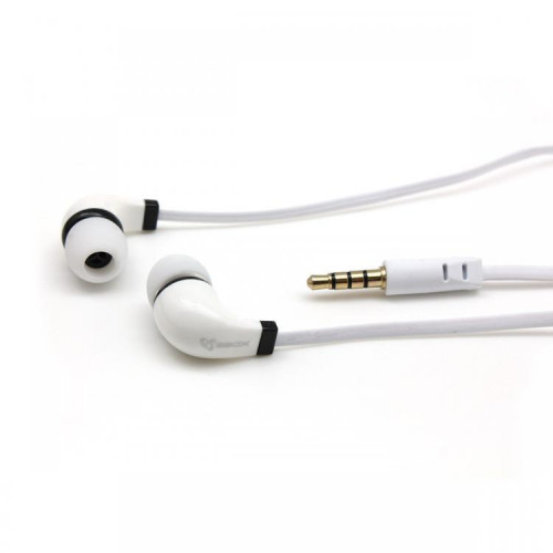 Sbox Stereo Earphones with Microphone EP-038 white (T-MLX36219)
