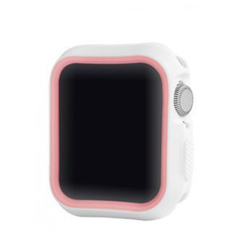 Devia Dazzle Series protective case (44mm) for Apple Watch white pink (T-MLX37494)
