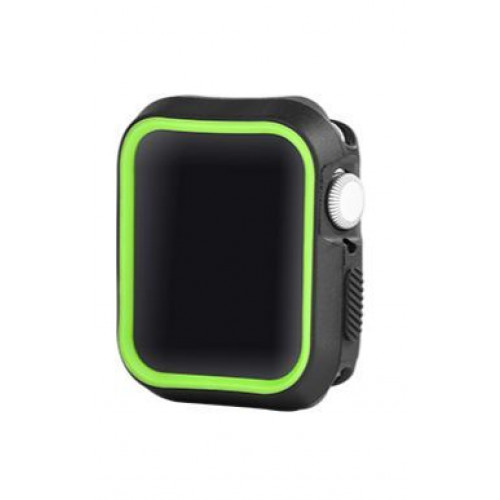 Devia Dazzle Series protective case (44mm) for Apple Watch black yellow (T-MLX37508)
