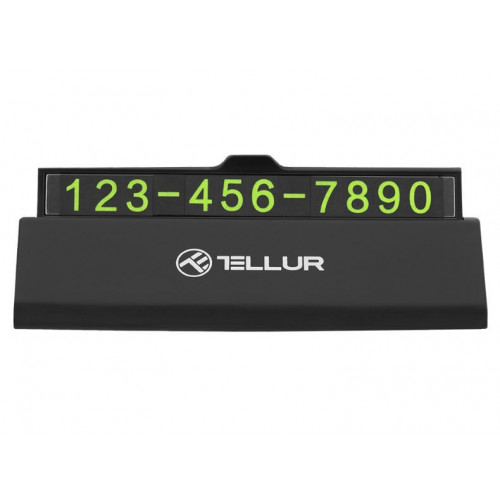 Tellur Temporary car parking phone number card black (TLL171101, T-MLX38315)