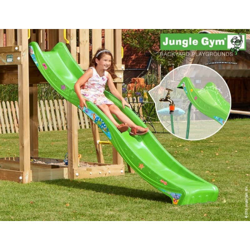 Rotaļu slidkalniņš laukumiņam Jungle Gym Wavy Star Slide Long Apple Green (334_300)