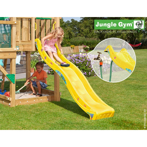 Rotaļu slidkalniņš laukumiņam Jungle Gym Wavy Star Slide Short Yellow (324_100)
