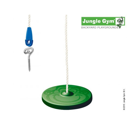 Bērnu rotaļu šūpoles Jungle Gym Twisk Disk Kit Green (250_053)